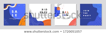 Sale, discount. Greeting card, banner, poster and flyer design Stock photo © FoxysGraphic