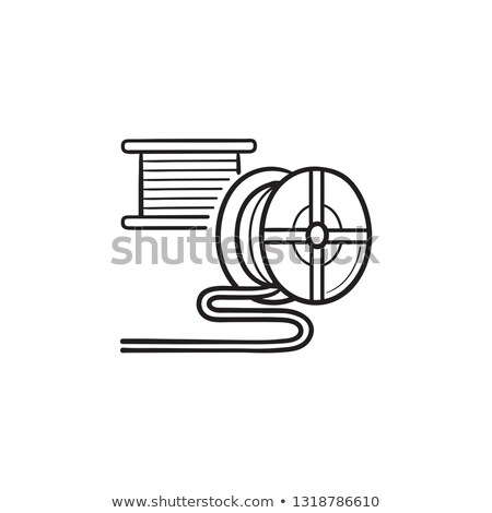 3D printing filament hand drawn outline doodle icon. Stock photo © RAStudio