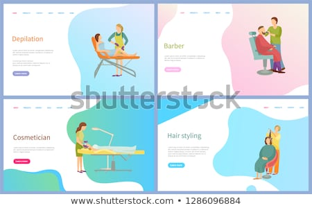 Depilation and Cosmetician, Barber Web Vector Stock photo © robuart
