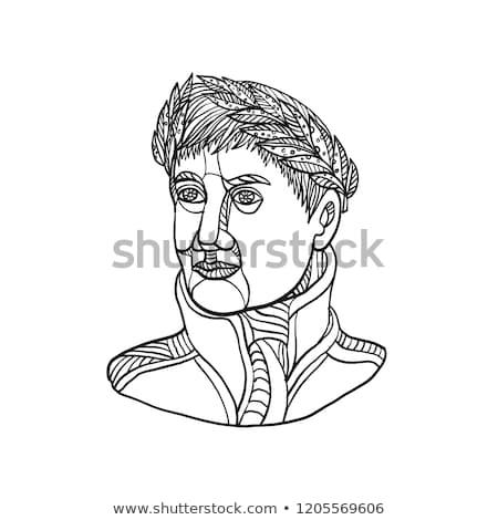 Imperador linha ilustração laurel folha Foto stock © patrimonio
