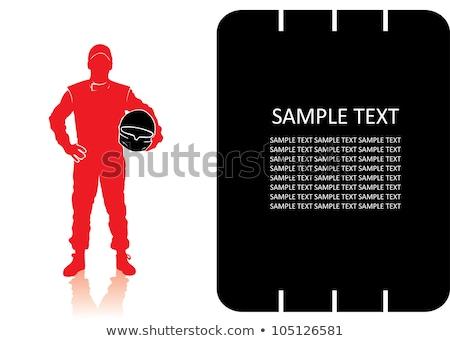 Man Car Racer Illustration Stock photo © lenm