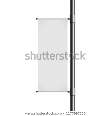 blank banner on a lamppost Stock photo © georgejmclittle