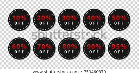 Végső vásár címke izolált átlátszó pénz Stock fotó © barbaliss