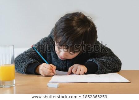 blue clothing boy_study Stock photo © toyotoyo