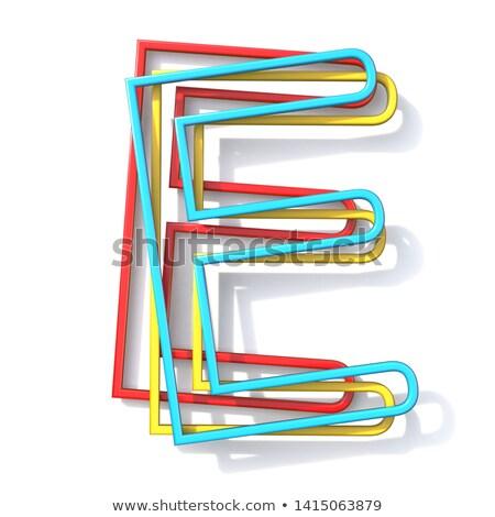 Stock fotó: Három · alapvető · szín · drót · betűtípus · e · betű