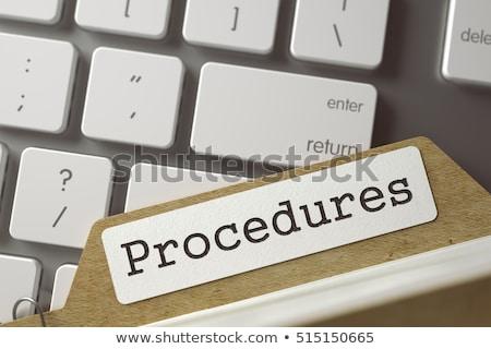 Card Index With Inscription Procedures 3d Rendering Foto stock © Tashatuvango