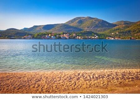 Idílico playa paisaje dubrovnik archipiélago Croacia Foto stock © xbrchx
