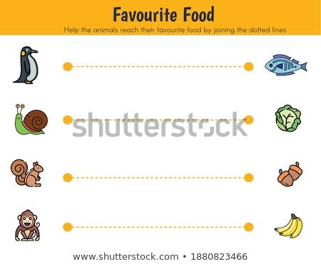 Grafiek favoriet voedsel illustratie abstract ontwerp Stockfoto © bluering