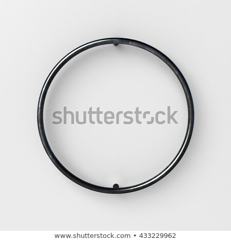 Line font with shadow Letter O 3D Stock photo © djmilic