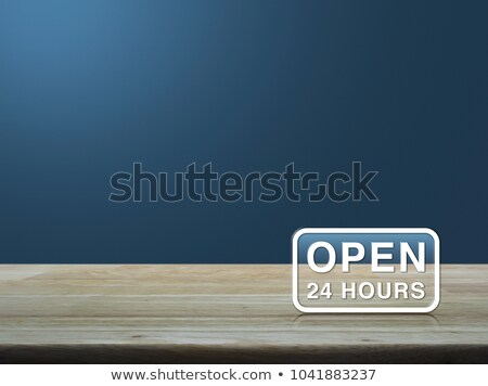 open 24/7 all days modern background Stock photo © SArts