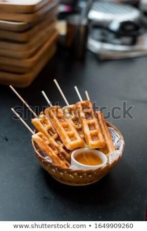 Casal placas caseiro prato monte café da manhã Foto stock © mpessaris