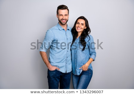 Two young sisters standing with hands in pockets Stock photo © Giulio_Fornasar