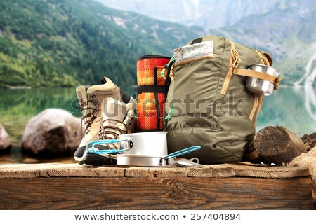Summer Camping Equipment and Tourists, Outdoors Stock photo © robuart