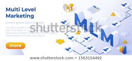 Multi Level Marketing Business Concept With Big Letters Mlm And Digital Devices Foto stock © Tashatuvango