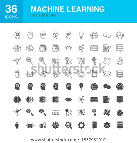 Data Science Line Web Glyph Icons Stock photo © Anna_leni