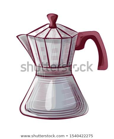 Desenho pote caneca de café java vetor café expresso Foto stock © robuart