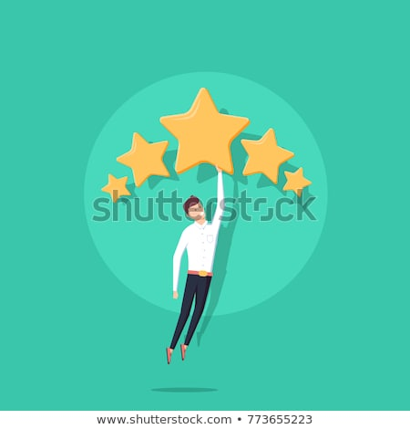 Set of Yellow Stars, Rating and Survey Concepts Stock photo © make
