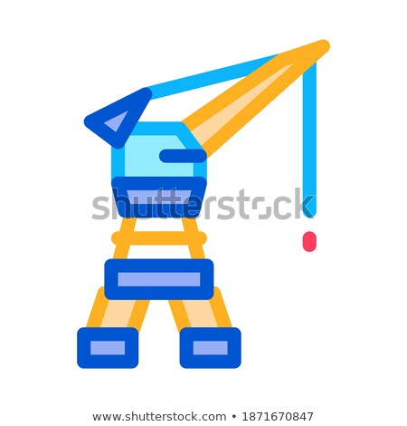 Seaport Crane Icon Vector Outline Illustration Stock photo © pikepicture