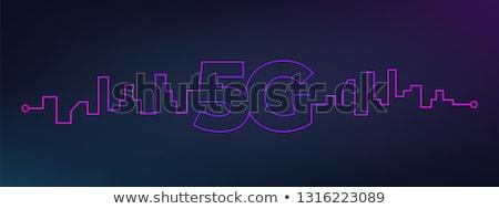 blue 5G fifth generation technology background design Stock photo © SArts