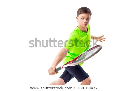 boy tennis player Stock photo © Lopolo