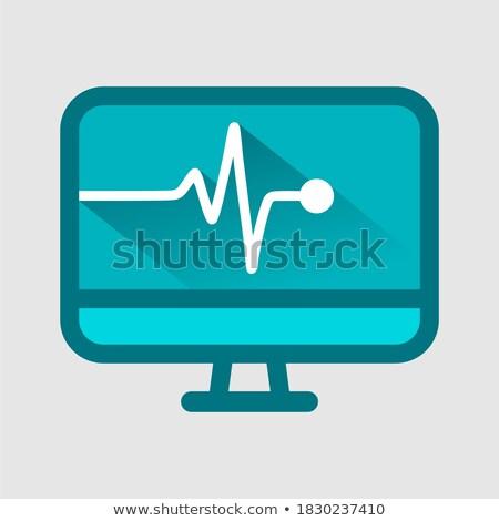 Zdjęcia stock: Drug Set And Cardiogram Screen Treatment Vector