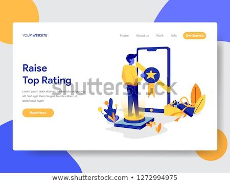 Top-ranking concept landing page Stock photo © RAStudio