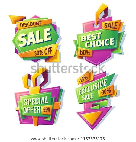 Legjobb választás nagy vásár 25 százalék el Stock fotó © robuart