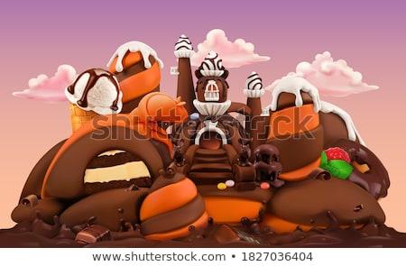 çikolata tatlı gıda yalıtılmış gıda Stok fotoğraf © Imaagio