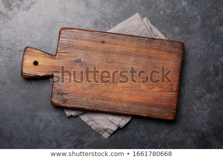 старые используемый разделочная доска полотенце Сток-фото © karandaev