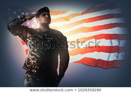 Amerikai katona katonaság USA csillagok csíkok Stock fotó © patrimonio