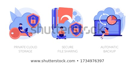 Háló hosting vágány vektor metaforák felhő alapú technológia Stock fotó © RAStudio
