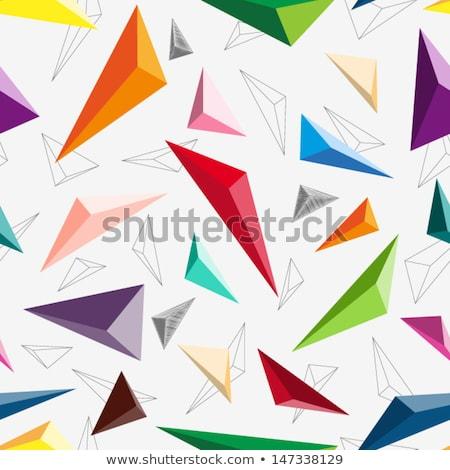 Rojo 3D patrón pared cuadros azar Foto stock © make