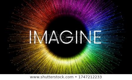 Kreativitás képzelet kreatív gyerekek gyermekkor fejlesztés Stock fotó © Lightsource