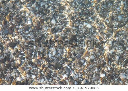 Su yüzeyi taşlar alt şeffaf sahil masmavi Stok fotoğraf © wildman