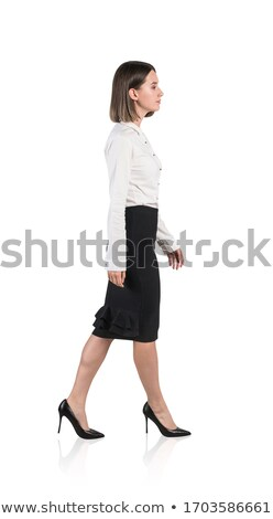 belo · elegante · mulher · jovem · calção · isolado · branco - foto stock © alexandrenunes