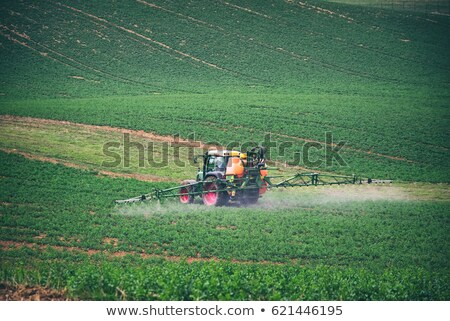 tractor with pesticide on field Stock photo © gewoldi