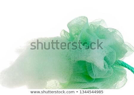 Stok fotoğraf: Rahatlatıcı · kadın · yeşil · havlu · kozmetik