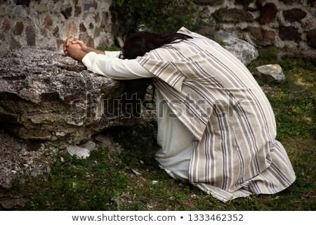 Modląc Jezusa ogród Biblii modlić religii Zdjęcia stock © lovleah