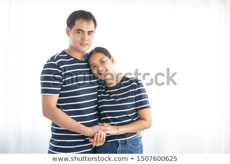 couple stood hugging each other stock photo © photography33