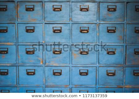 clásico · archivo · 3D · azul · oficina - foto stock © tiero