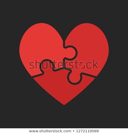 bilmece · kalp · yalıtılmış · beyaz · düğün · sevmek - stok fotoğraf © pakhnyushchyy