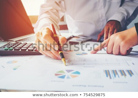 Calculator and two pens Stock photo © Pruser