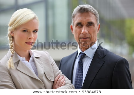 Young woman and director looking preoccupied Stock photo © photography33
