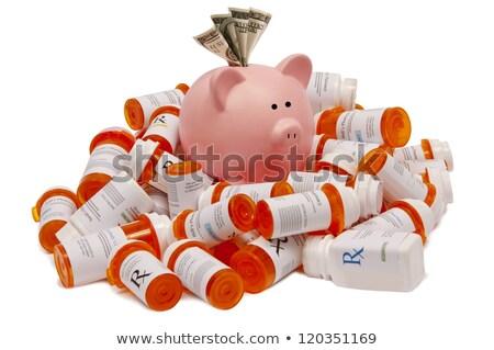 Alcancía prescripción salud medicina Foto stock © devon
