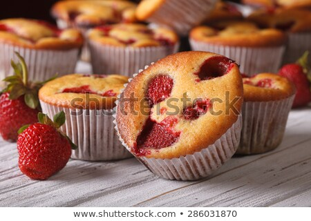 イチゴ マフィン ピンク カップ 新鮮な ストックフォト © elly_l