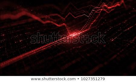 Parlak kırmızı grafik beyaz iş soyut Stok fotoğraf © Ciklamen