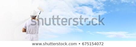 pintura · maravilloso · cielo · azul · cepillo · cielo · nubes - foto stock © photography33