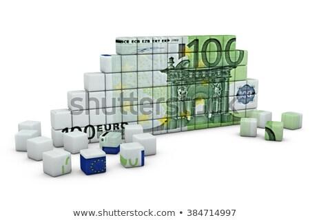 Pyramids with Euro sign Stock photo © 6kor3dos
