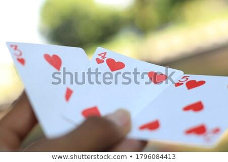 Enyém fogadás póker izolált fehér üzlet Stock fotó © OleksandrO