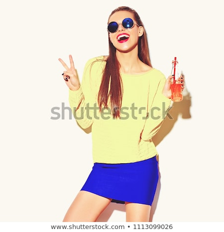 thirsty young brunette beauty stock photo © lithian